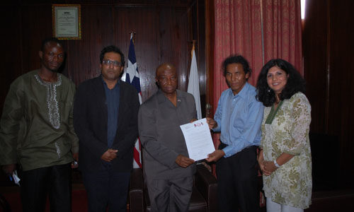 With Vice President of Liberia- by Manita Aryal